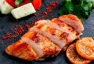 Pollo cocinado en airfryer