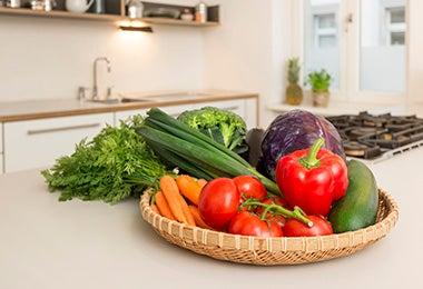 Vegetales para cocinar en una de las recetas en airfryer
