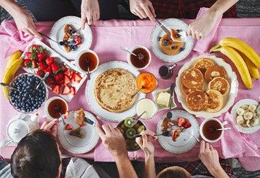 Opciones de desayunos de cumpleaños