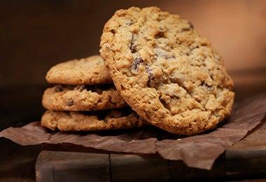 mesa con galletas