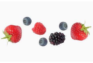 Frutillas, moras, frambuesas y arándanos, frutas para mermeladas caseras.