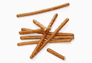 Bastones de pretzel para snack salado