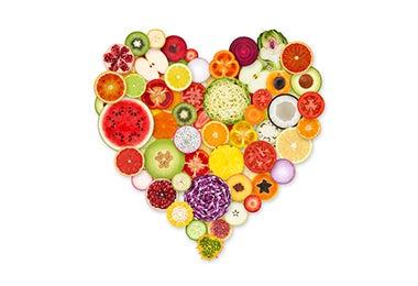 Frutas coloridas para usar en los desayunos para niños